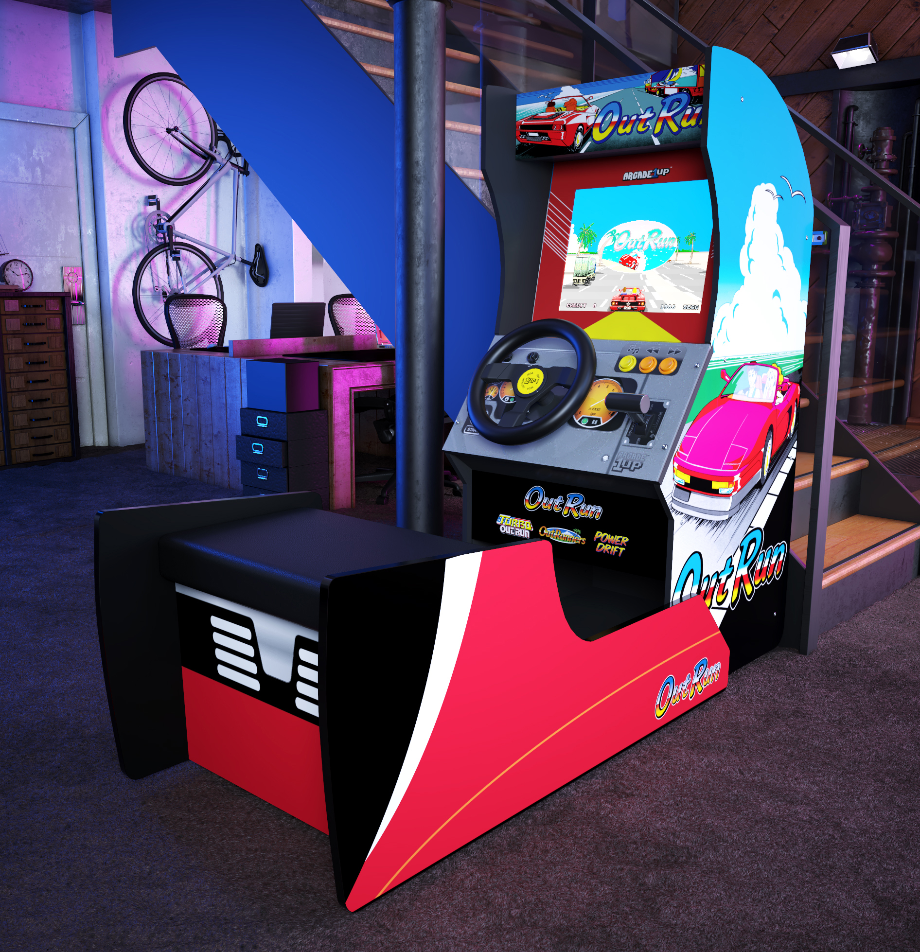 This OutRun Arcade1Up cabinet makes me think I need to get a bigger apartment screenshot
