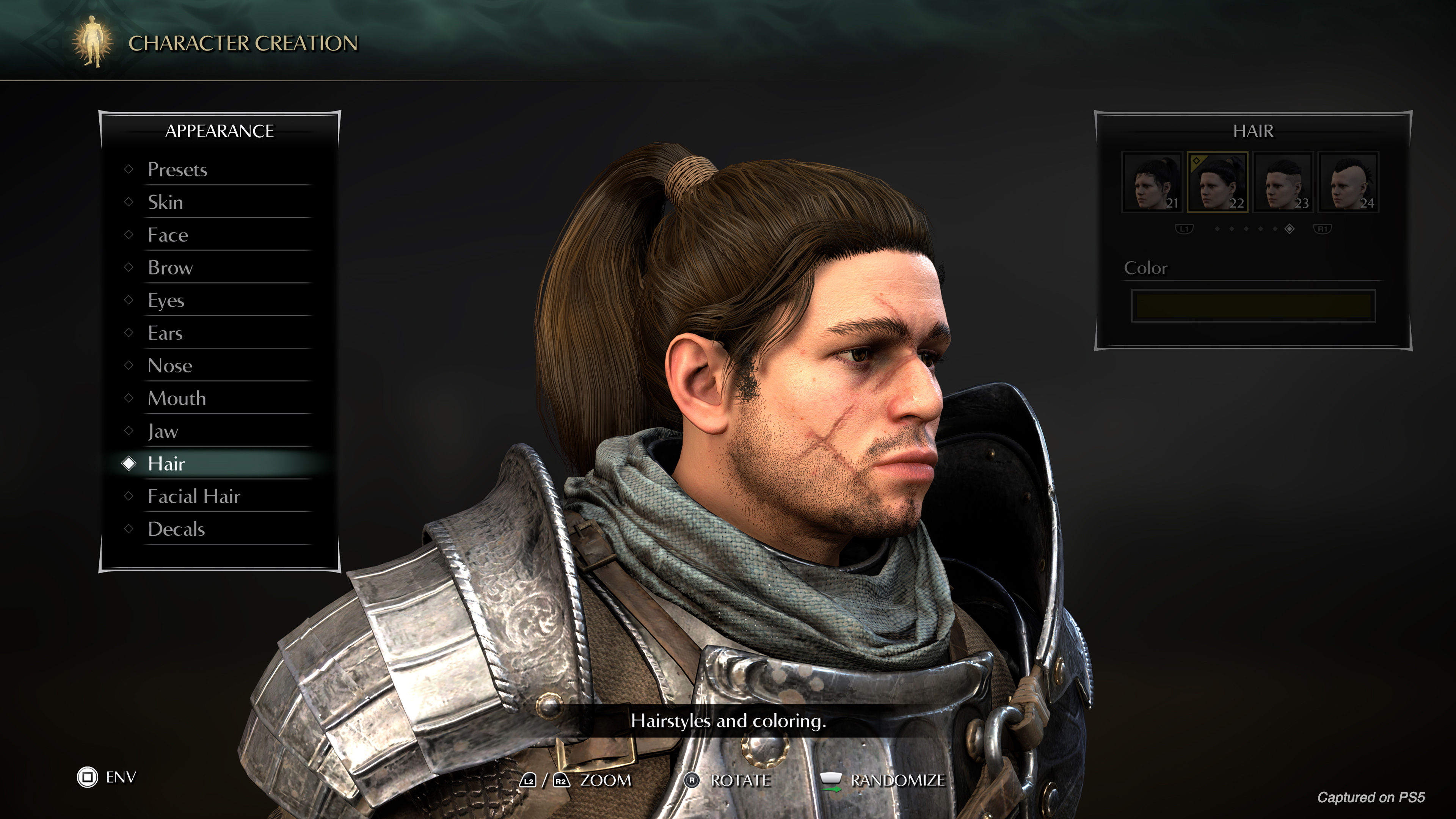 Demon's Souls has a much prettier character creator but you can still make a hideous hero if you want screenshot
