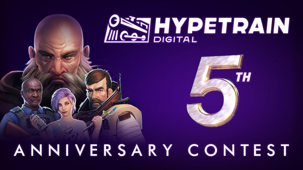Hypertrain Digital Fifth Anniversary giveaway Breathedge Stoneshard Desolate The Wild Eight Police Stories