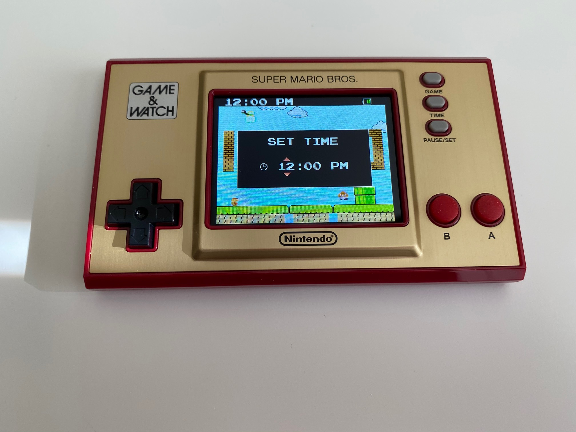 Nintendo's Game & Watch: Super Mario Bros. device is a collectible first and foremost screenshot