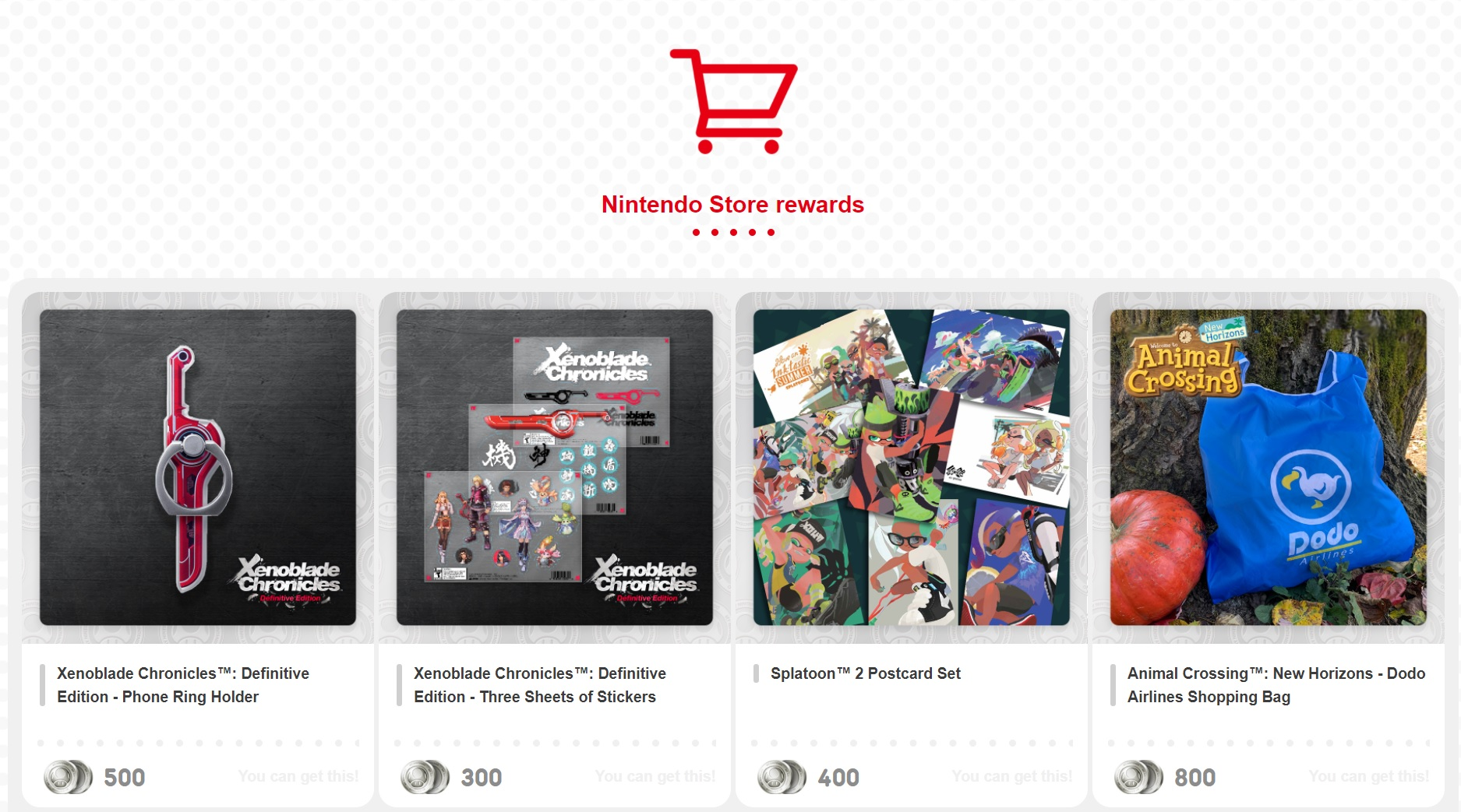 My Nintendo just restocked several coveted physical rewards screenshot