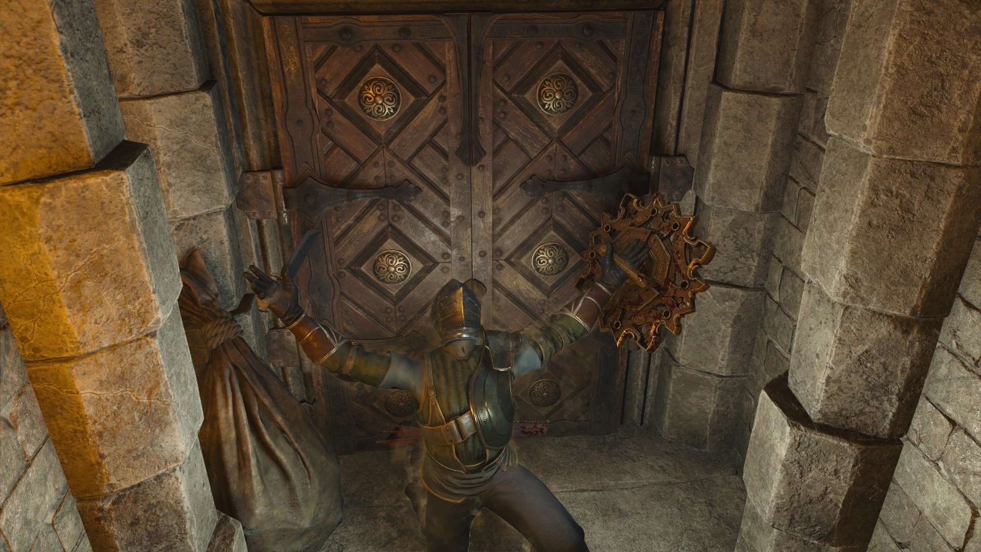 The Demon's Souls community is offering a bounty for the secret door solution screenshot