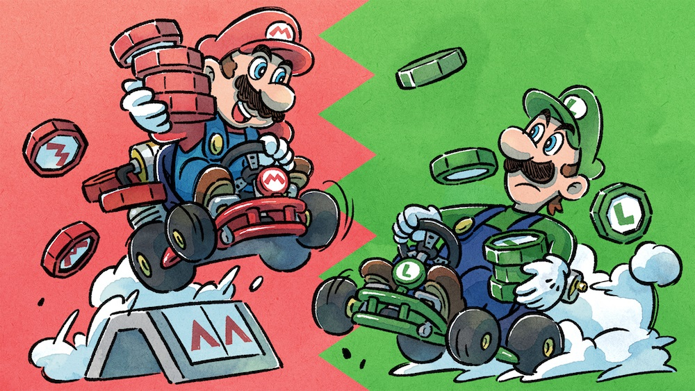 Mario Kart Tour's newest update asks: Mario or Luigi? screenshot