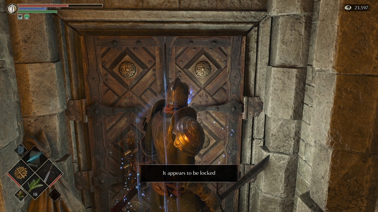 The secret Demon's Souls door was unlocked and it's guarding a cool item set screenshot
