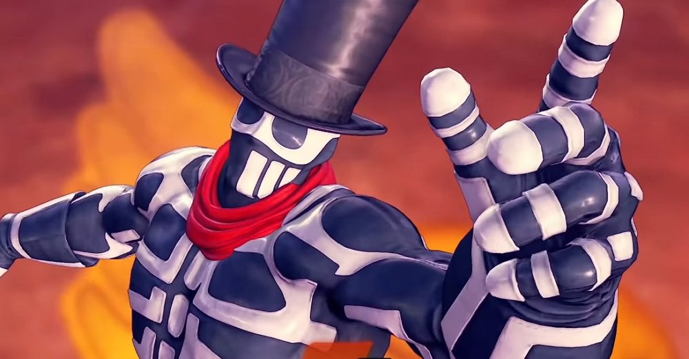 Skullomania reappears in Street Fighter V, but only as a new costume for G
