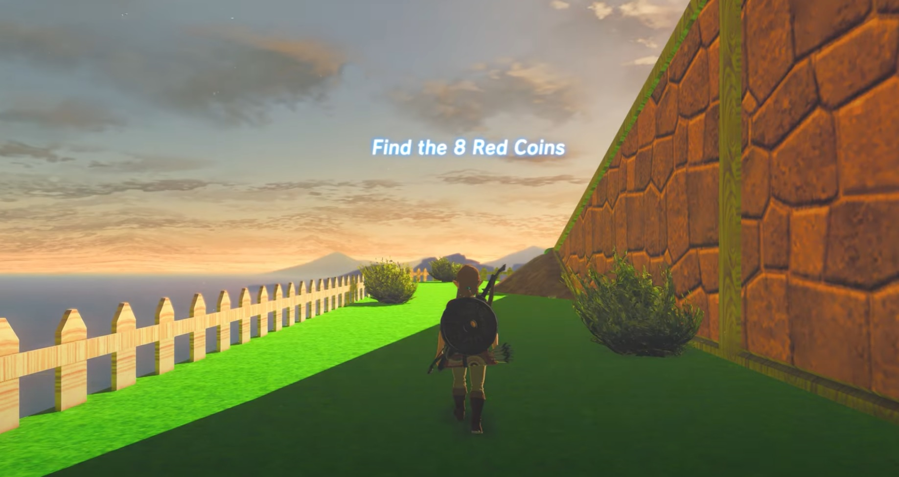 This Zelda: Breath of the Wild mod injects Mario 64 into the mix for one wild combo screenshot