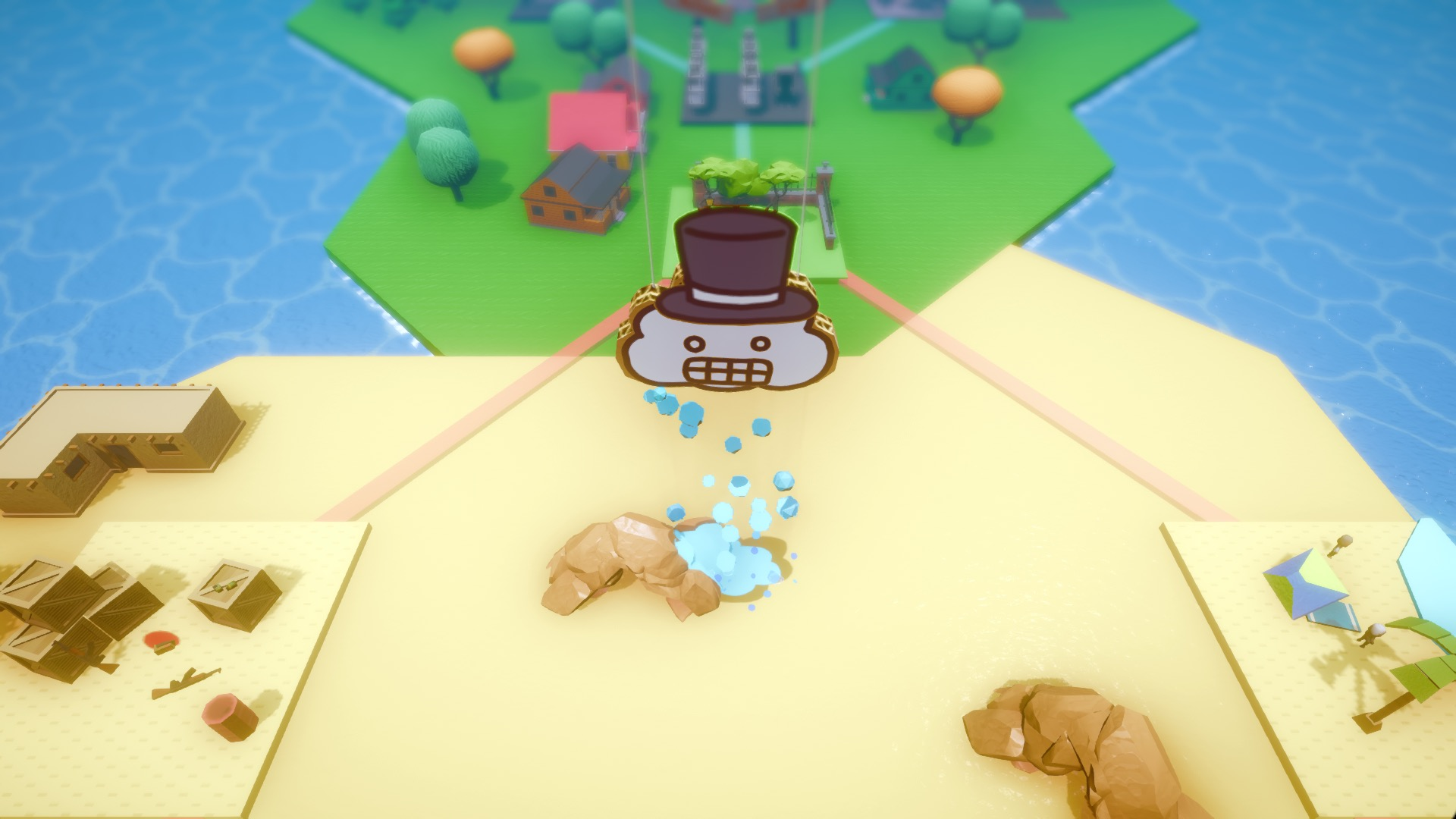 Ruin the day as a cardboard cloud in Rain on Your Parade screenshot