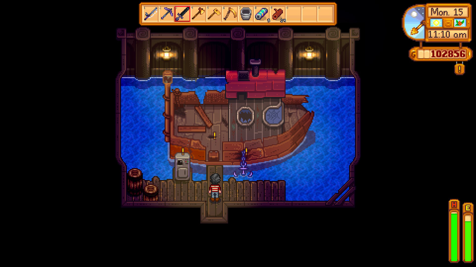 How to fix the boat in Stardew Valley