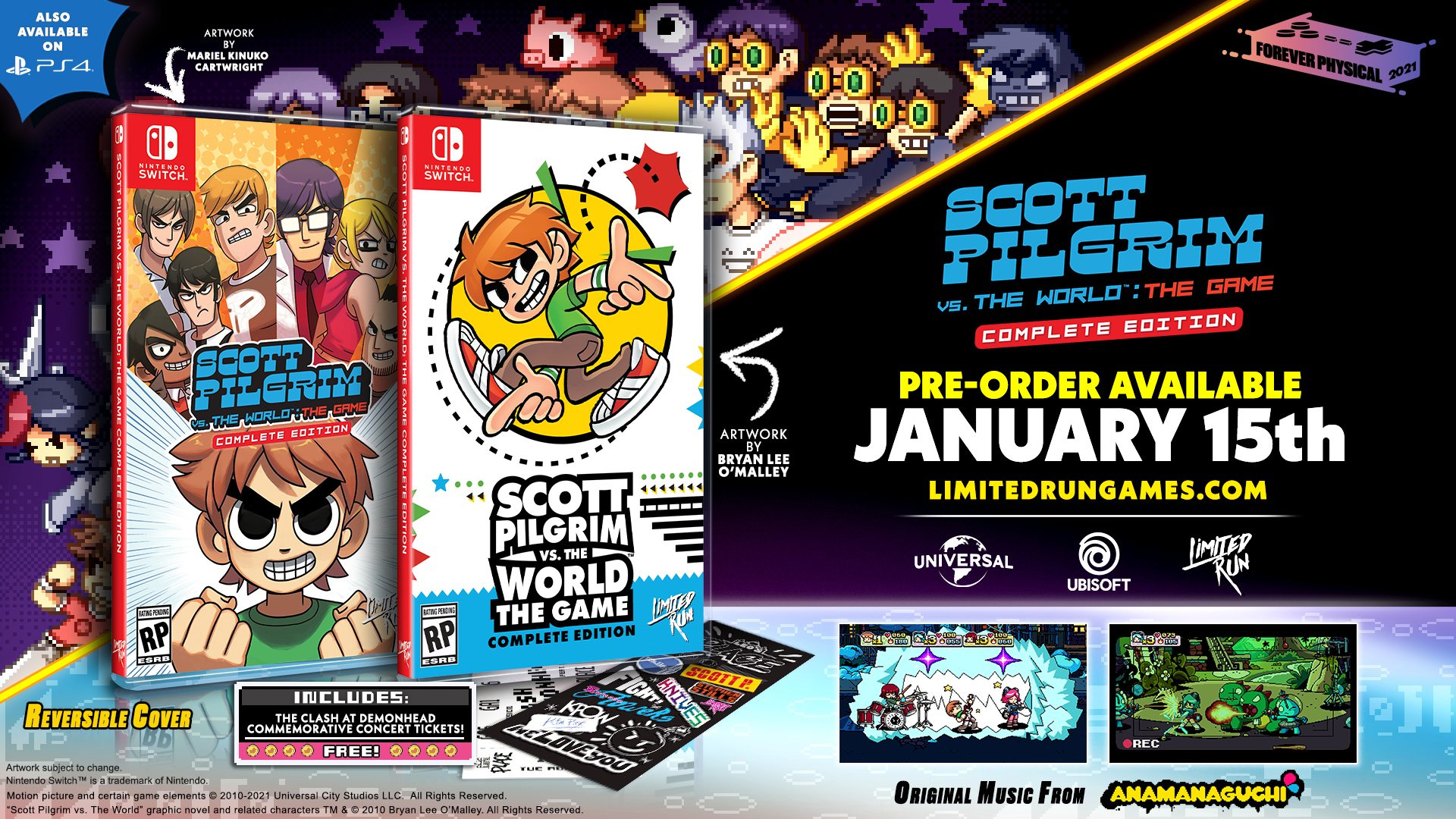The Standard physical edition of Scott Pilgrim vs. the World: The Game