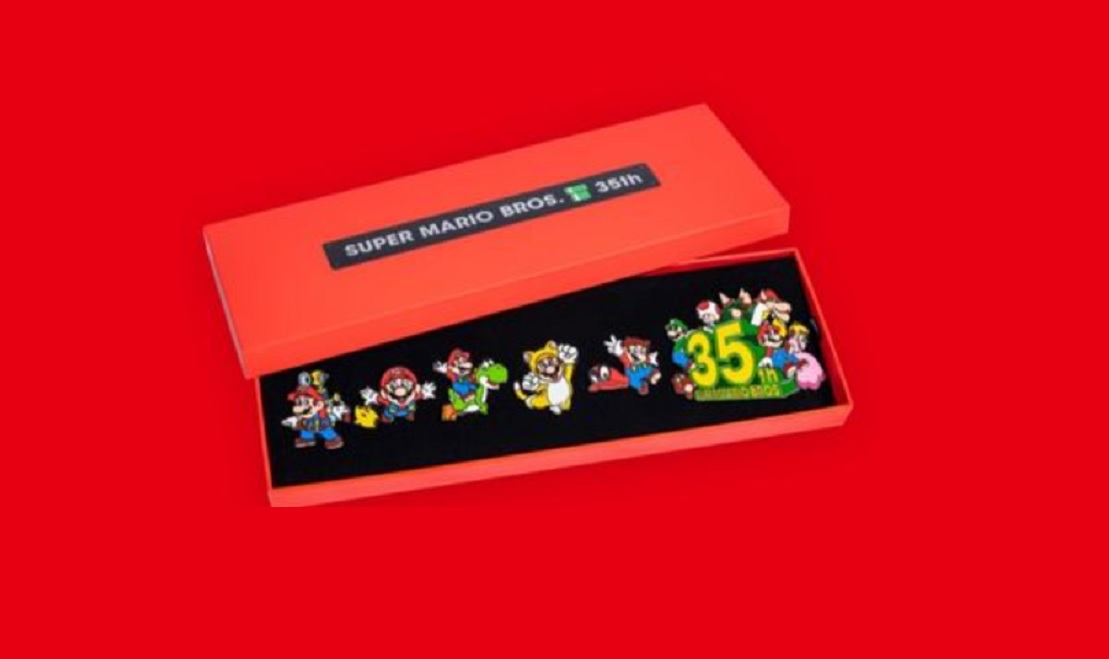 It looks like there's another Mario anniversary pin set, but it takes a bit more work to get screenshot