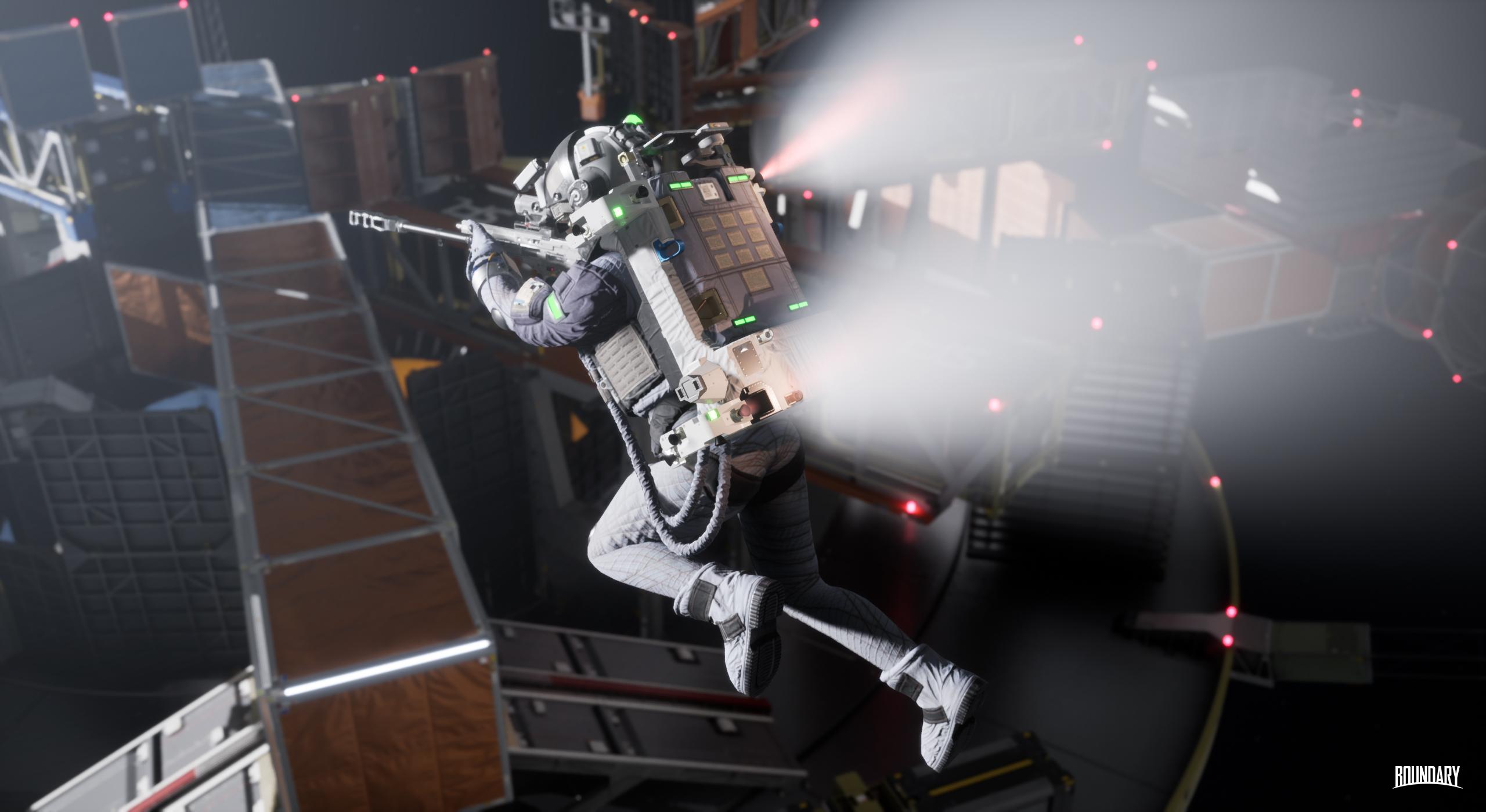 Giveaway: Take a beta key for zero-G space shooter Boundary screenshot