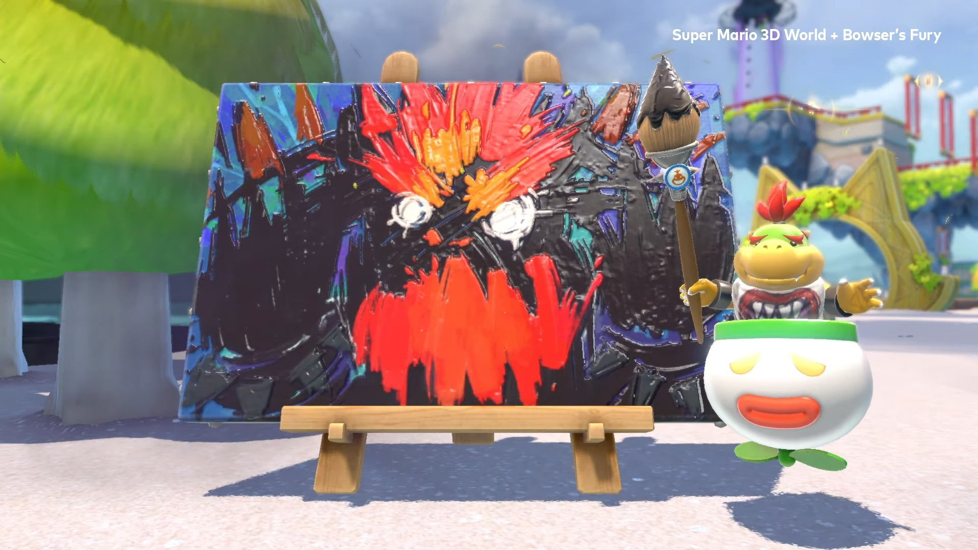 I'm so glad Bowser's Fury has two-player co-op screenshot