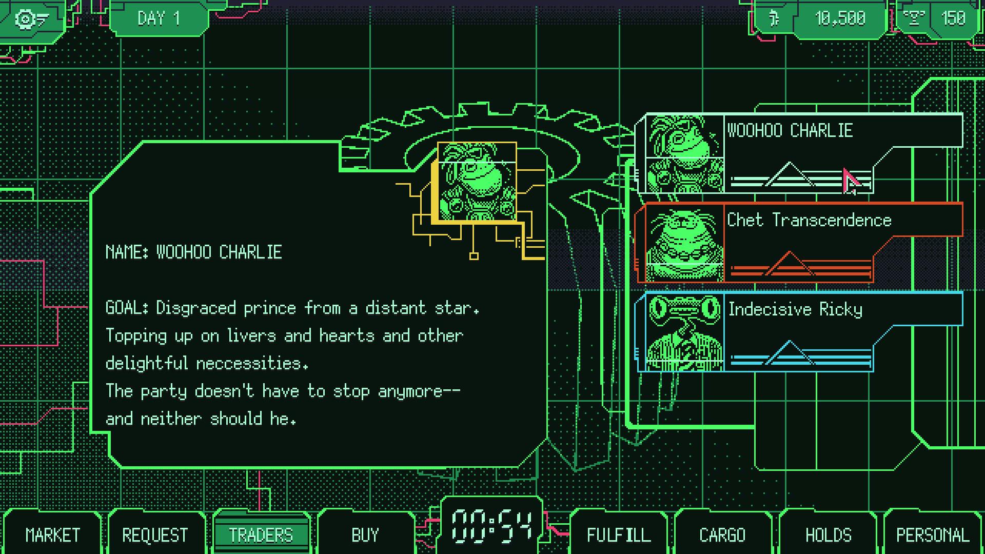 Space Warlord Organ Trading Simulator is a fun idea for a video game screenshot