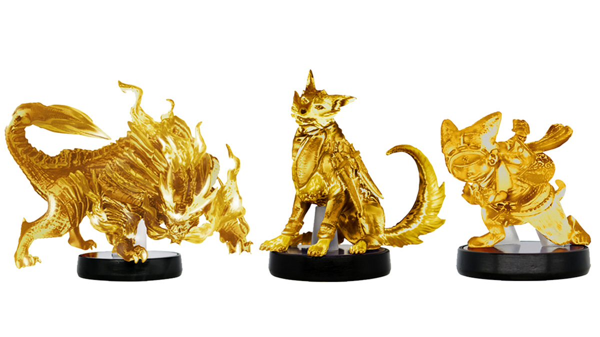 A collector's nightmare: Capcom is planning to distribute gold Monster Hunter Rise amiibo via lottery screenshot
