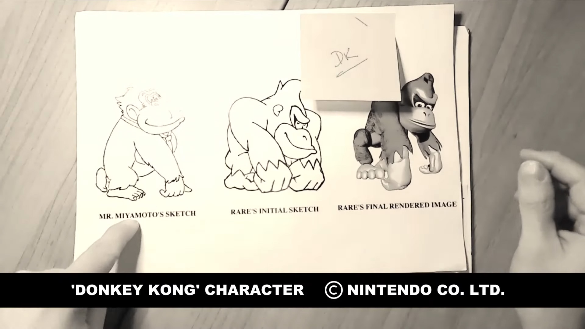 Donkey Kong Country artist Kevin Bayliss pulled out old character sketches for a show and tell