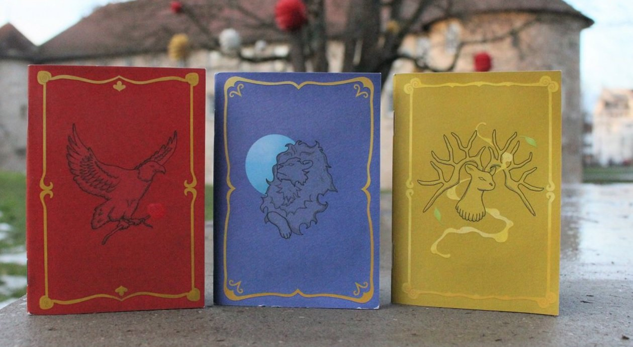 This group made themed instruction manuals for Fire Emblem: Three Houses, and I'd buy them in a heartbeat screenshot