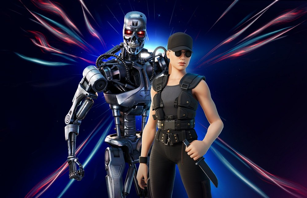 The Terminator and Sarah Connor are the newest superstars to join Fortnite screenshot