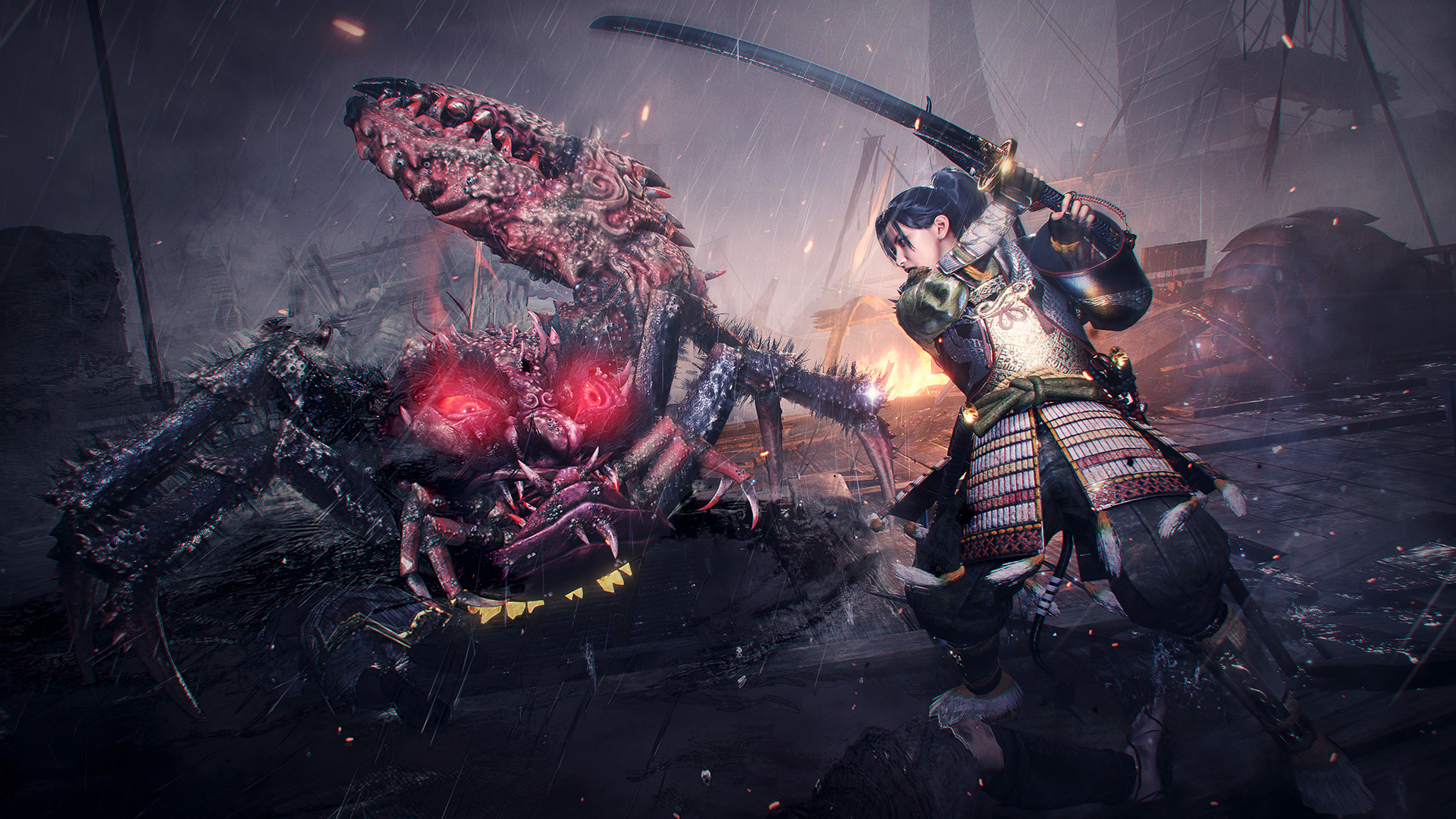 Here's a good long look at Nioh 2 Remastered running on PS5 screenshot