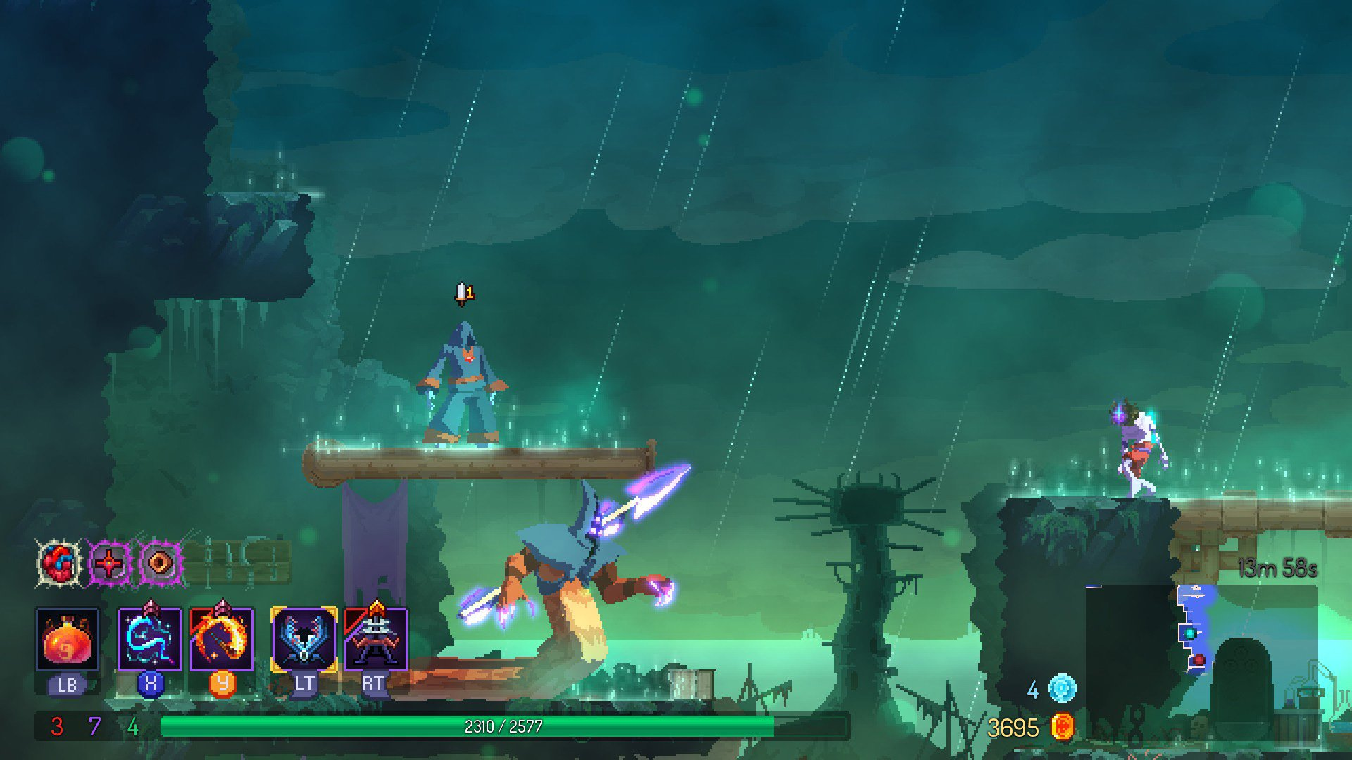 Here's how to find the Fatal Falls levels in Dead Cells screenshot