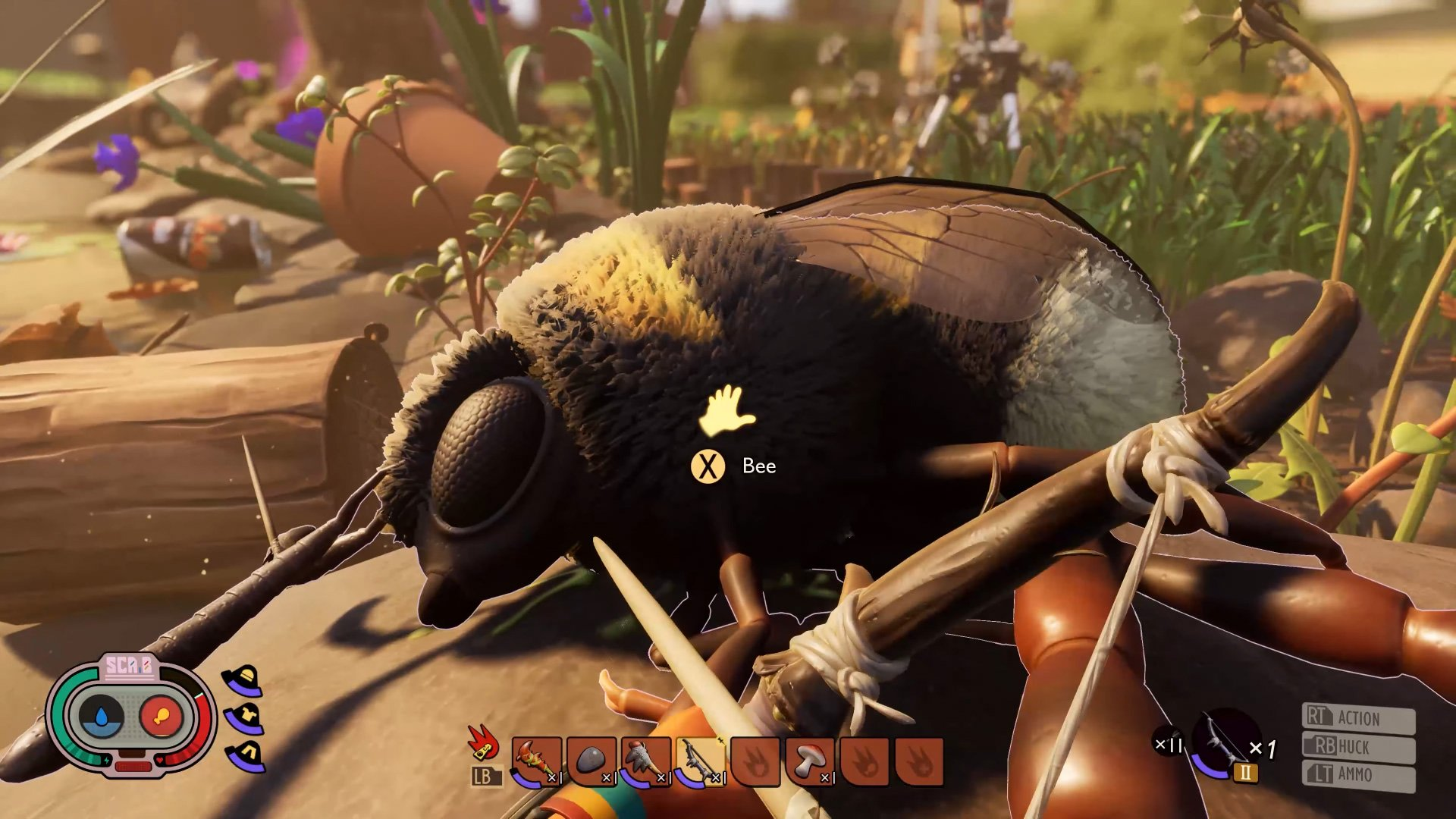 Grounded's new update lets you wage war against bees screenshot