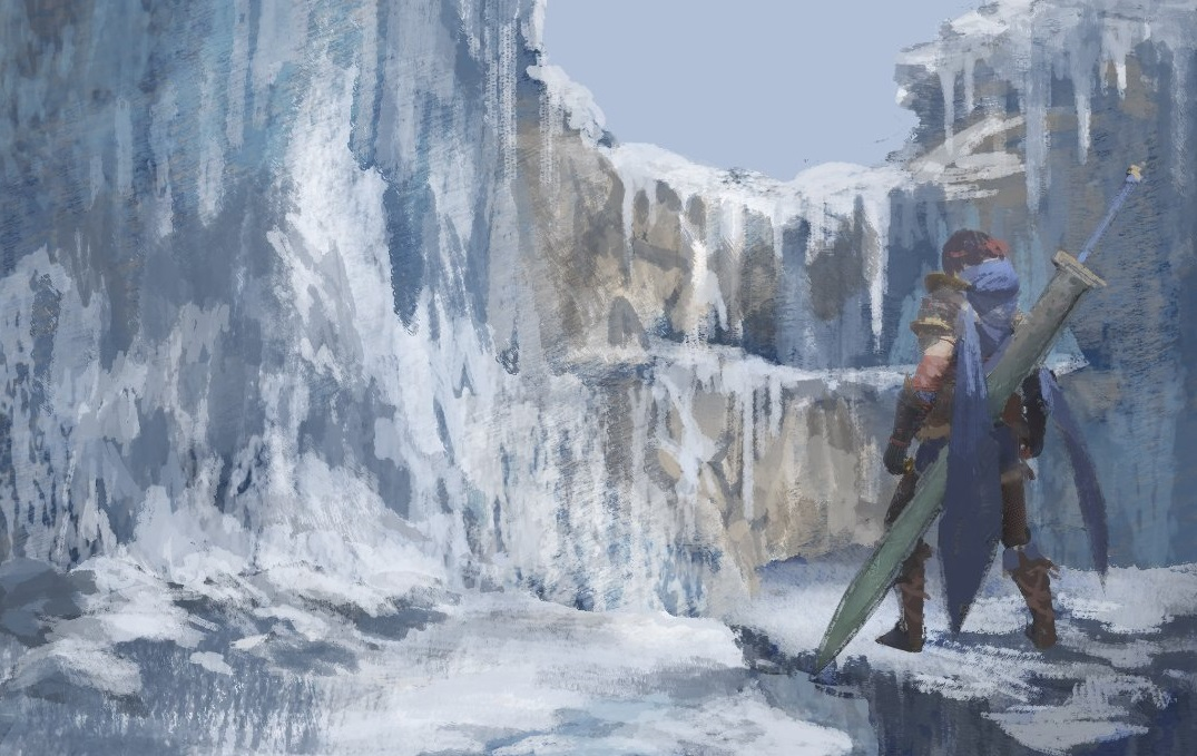 This Monster Hunter Rise Frost Islands concept art is beautiful screenshot