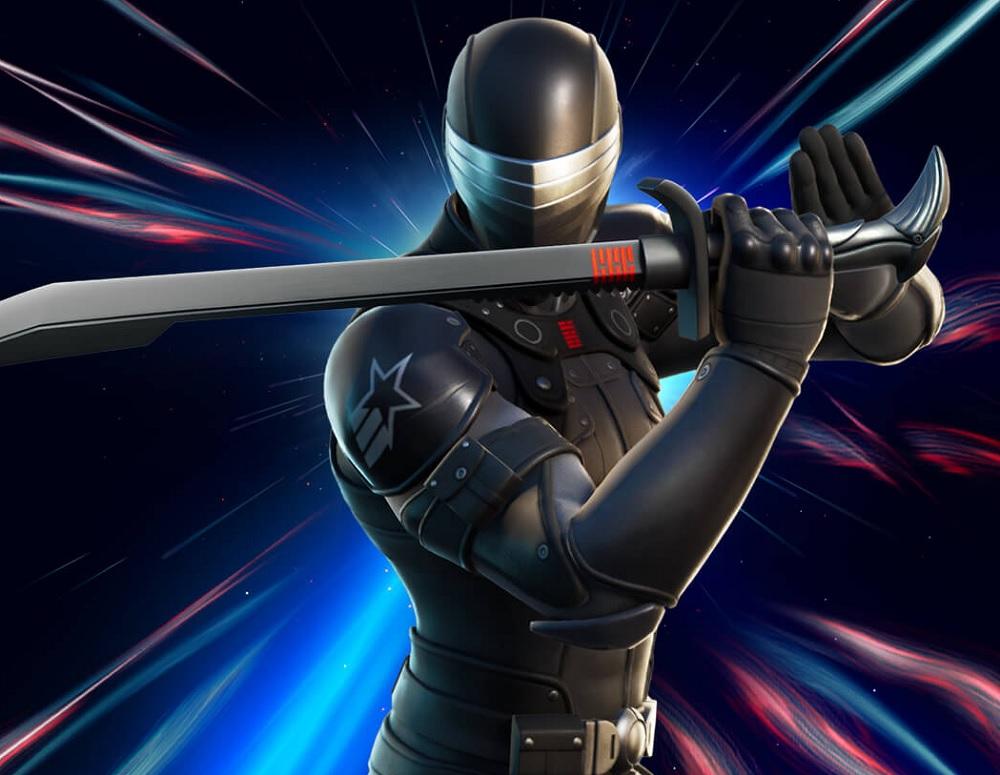G.I. Joe's master ninja Snake Eyes now available in Fortnite screenshot