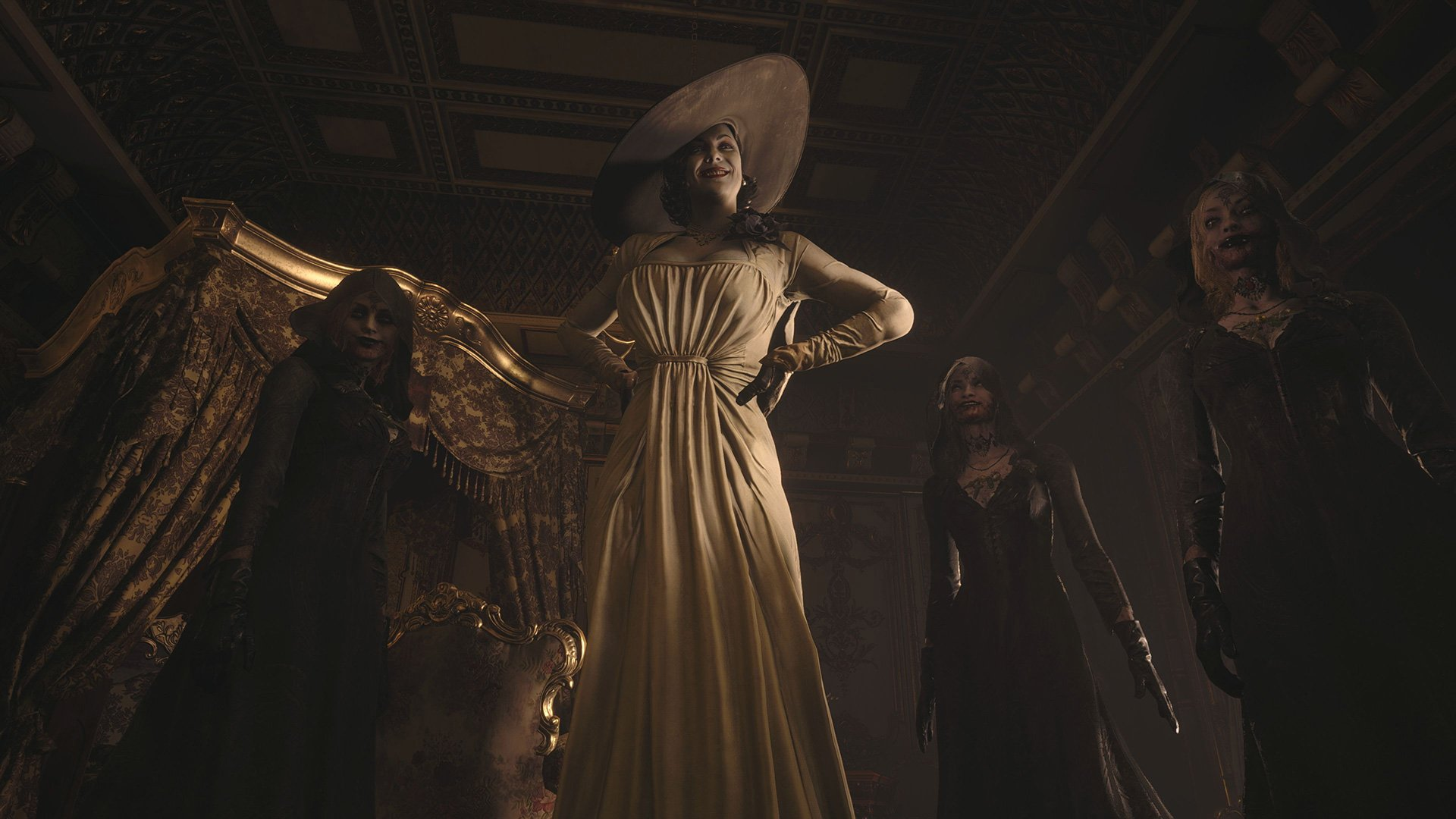Resident Evil Village's art director says the Lady D fanfare is 'great' and, oh yeah, she's over nine feet tall screenshot
