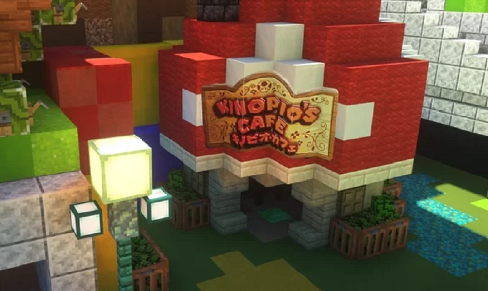 Can't go to Japan's Super Nintendo World park? Explore it in Minecraft screenshot
