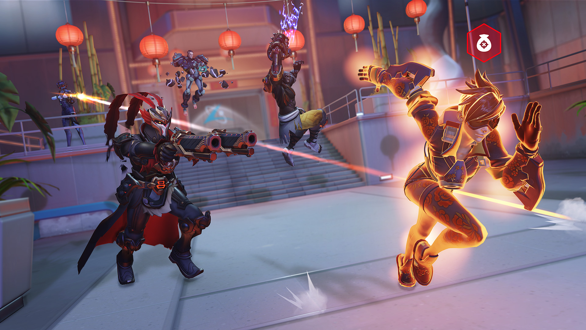 Overwatch's Lunar New Year event is up and running with a Bounty Hunter mode screenshot