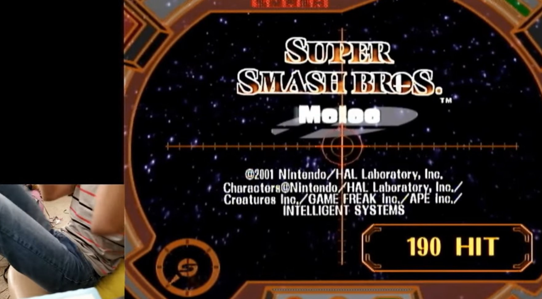 This hotshot hit every single name in the Smash Melee credit shooting minigame screenshot