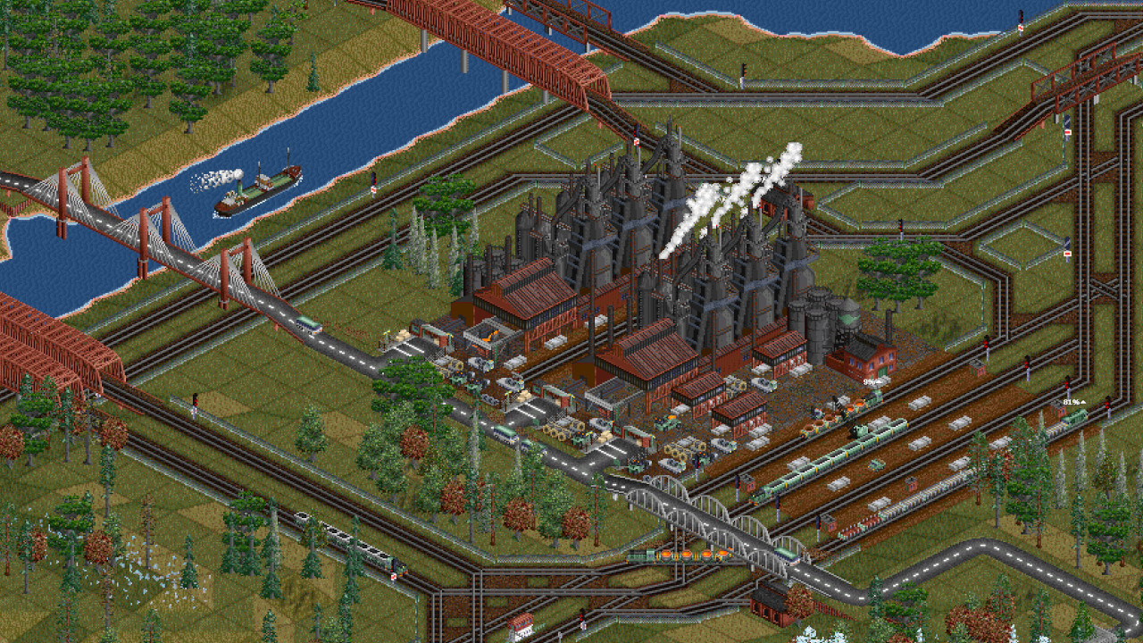 OpenTTD is still alive and well and it's coming to Steam screenshot
