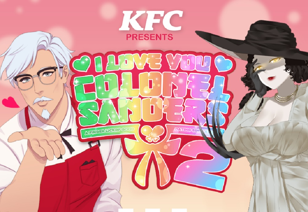 I really want this KFC and Resident Evil Village dating sim crossover to be real screenshot
