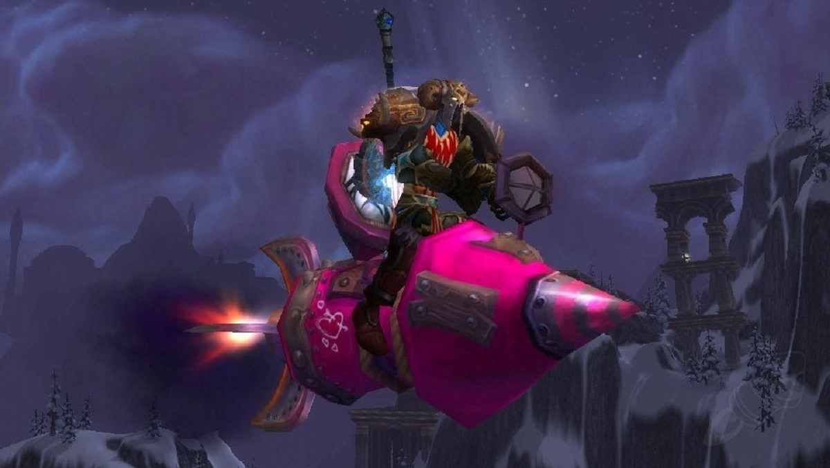 Now's your chance to get the Love Rocket mount in World of Warcraft again screenshot