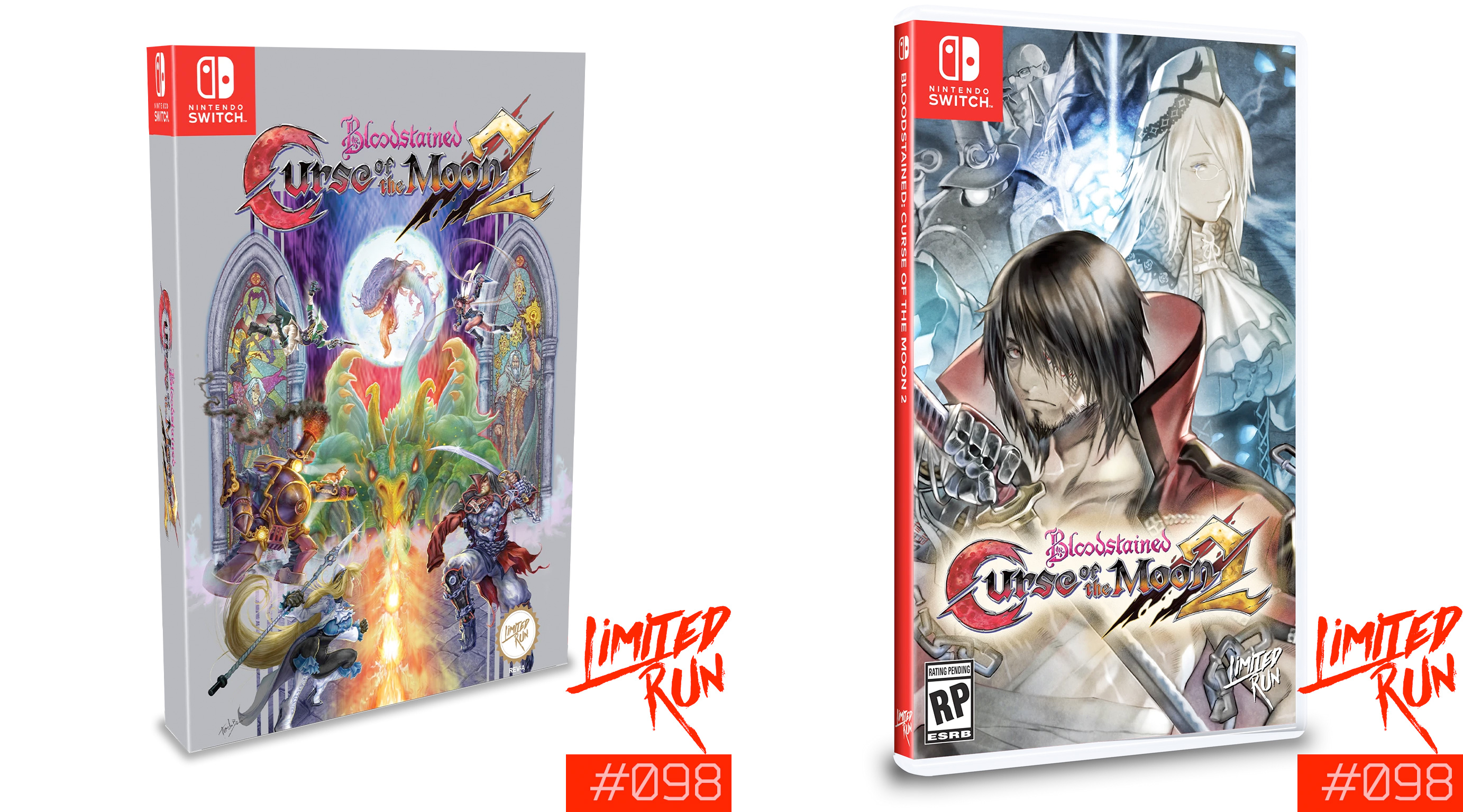 Bloodstained: Curse of the Moon 2 got a classic Konami-style cover for its Limited Run physical edition screenshot