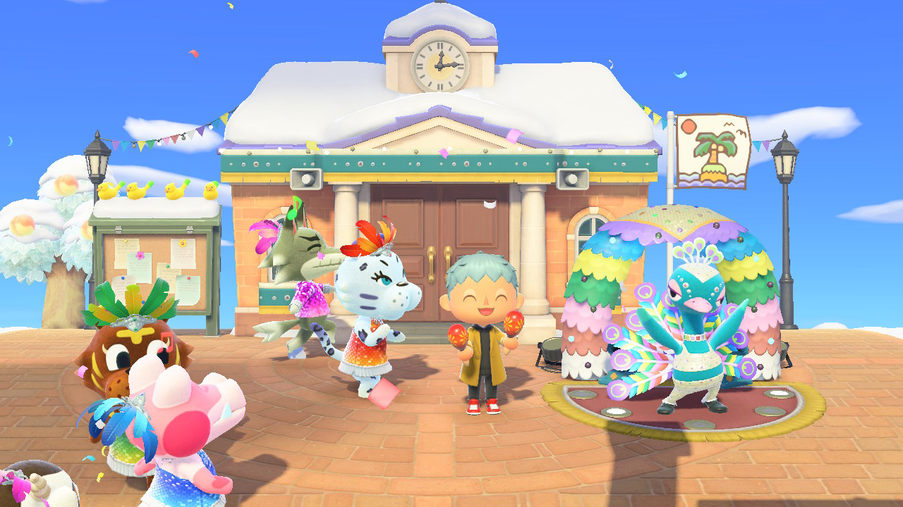 Today's the day to go feather hunting for Festivale in Animal Crossing: New Horizons screenshot