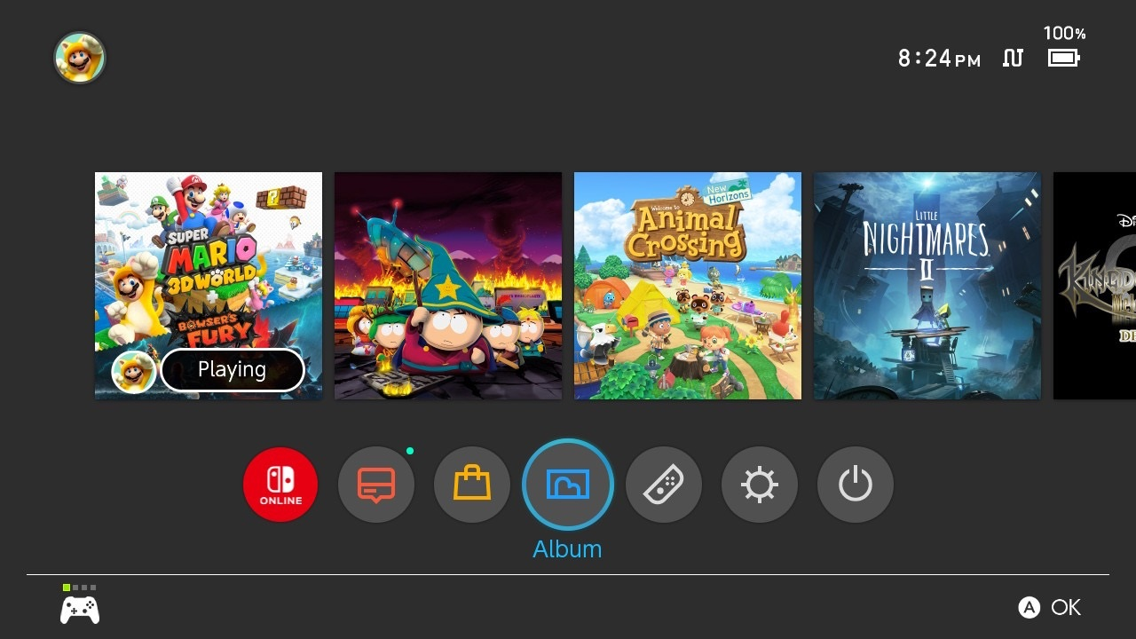 PSA: If you mash the ZR and ZL buttons, your Switch battery percentage will pop up screenshot