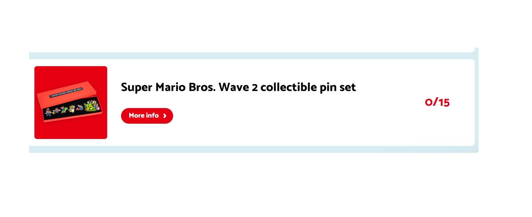 The process for the second Mario pin set was somehow worse than the first screenshot