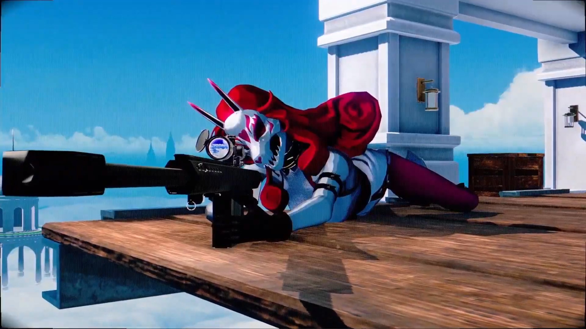 Neon White might be the most out-there game in today's Nintendo Direct screenshot