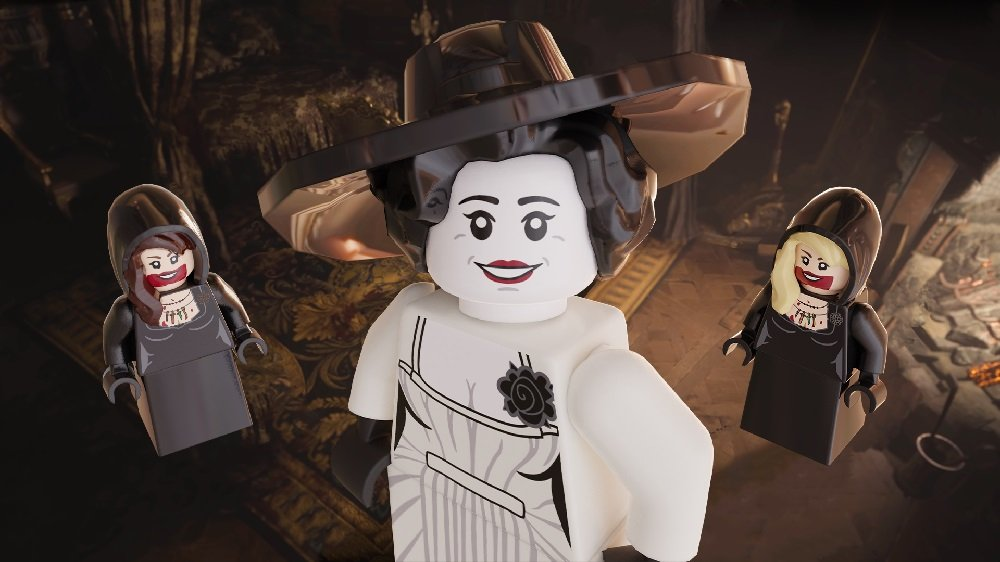 LEGO fan shares Minifig renders of Resident Evil's Lady Dimitrescu and her daughters screenshot