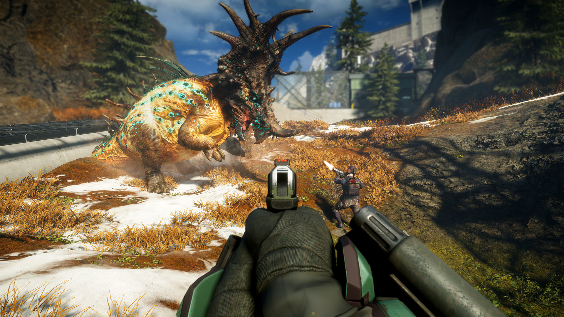 Second Extinction is bringing zany dinosaur co-op firefights to Xbox soon screenshot