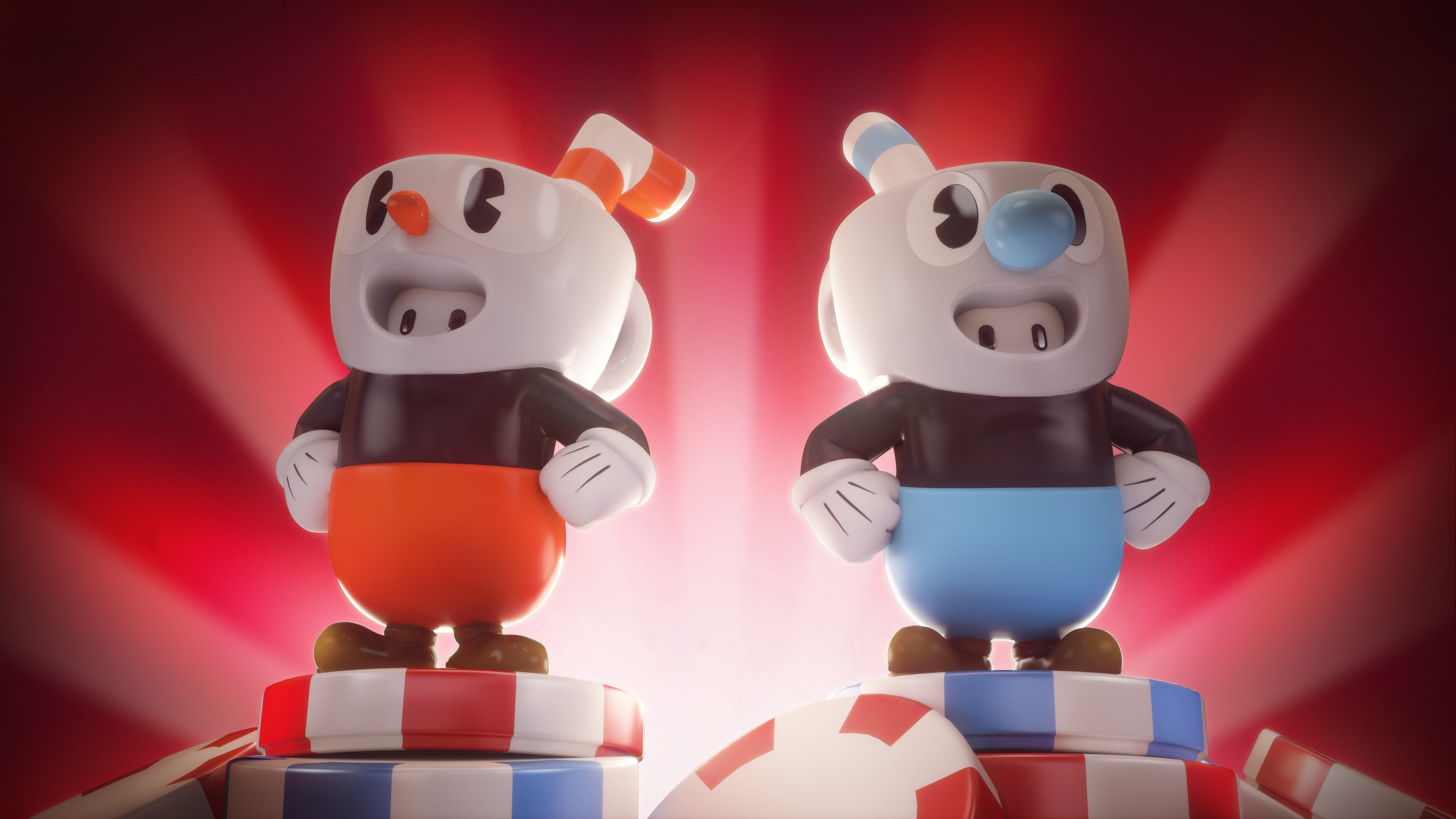 Cuphead and Mugman are showing up in Fall Guys this week screenshot