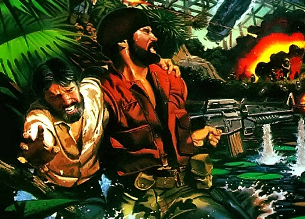 Guide Guevara and Castro to freedom in SNK's 1987 release Guerrilla War screenshot