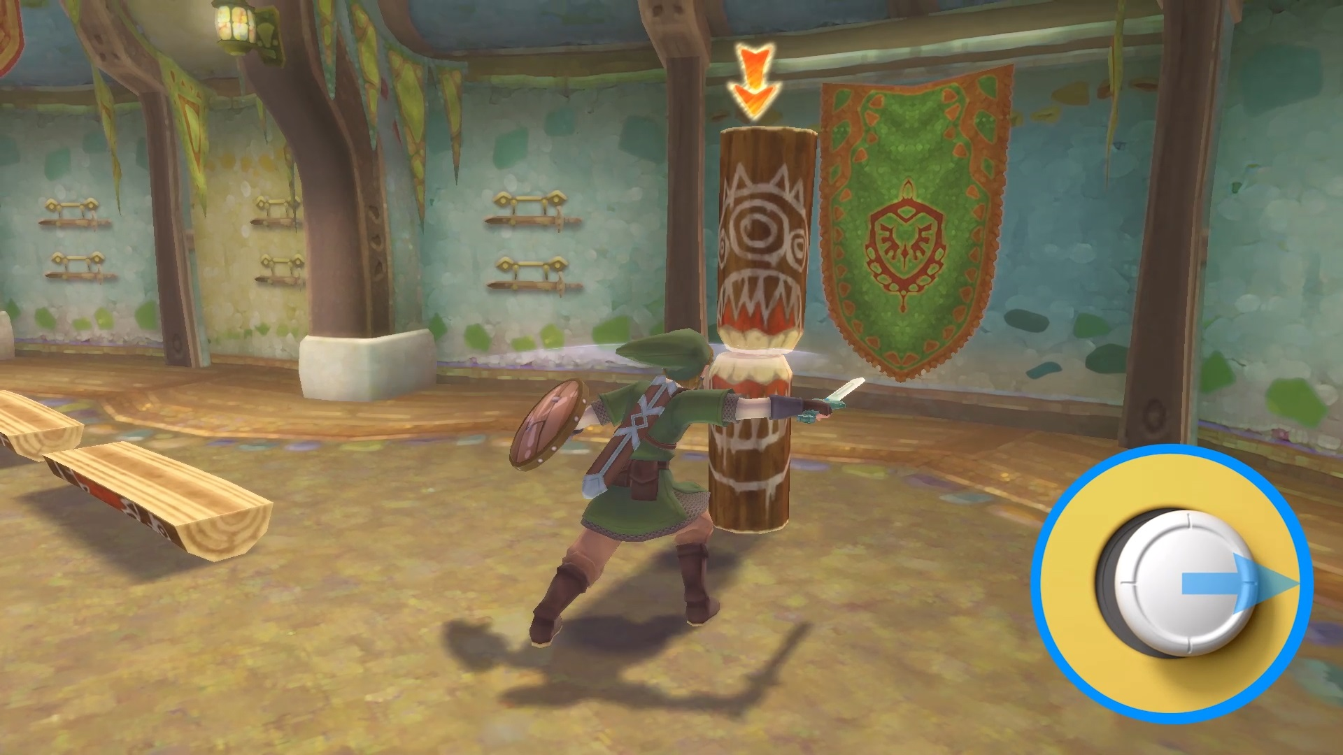 Here is how Zelda: Skyward Sword HD works with traditional controls screenshot