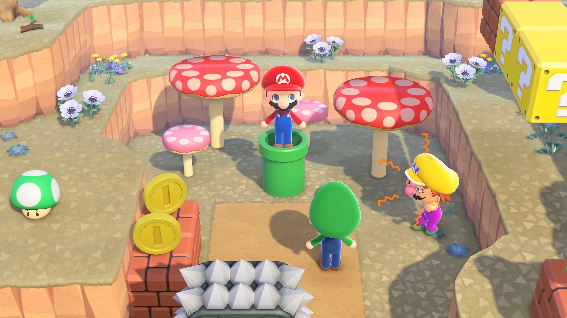 It's worth keeping an extra Warp Pipe on hand in Animal Crossing screenshot