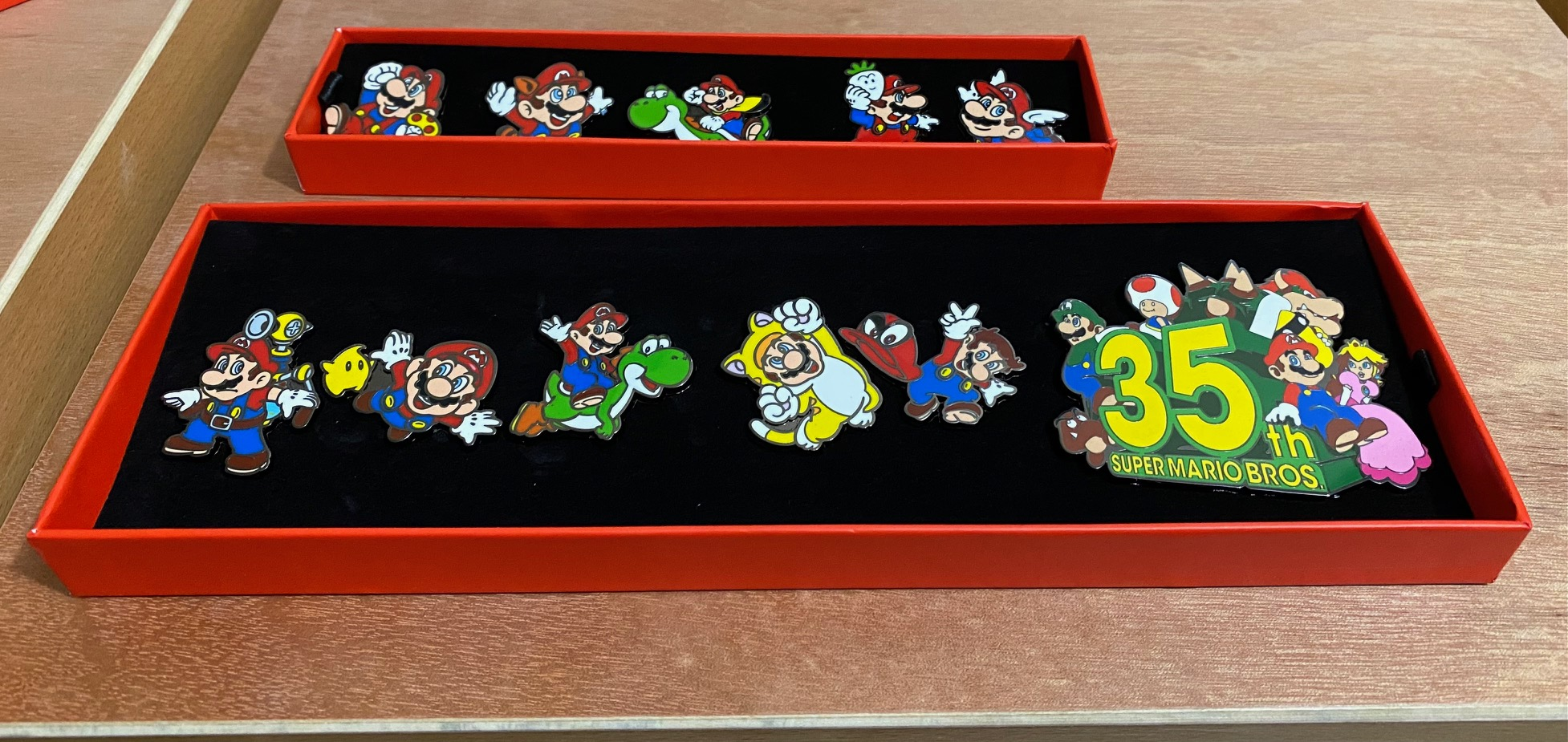 Whoa, the box for the new Mario 35th anniversary pin set is huge screenshot