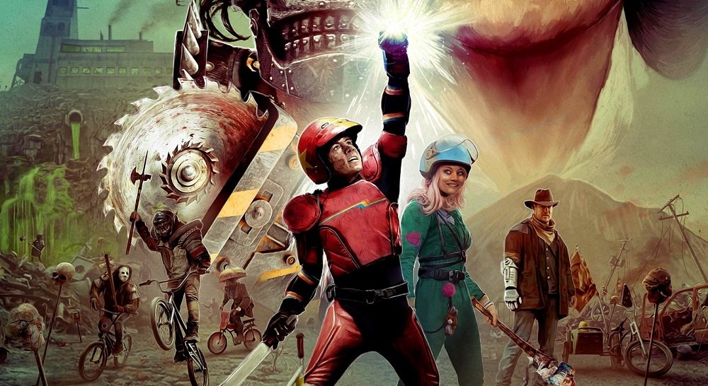 Seven years after the movie, Turbo Kid is getting a gore-filled game screenshot