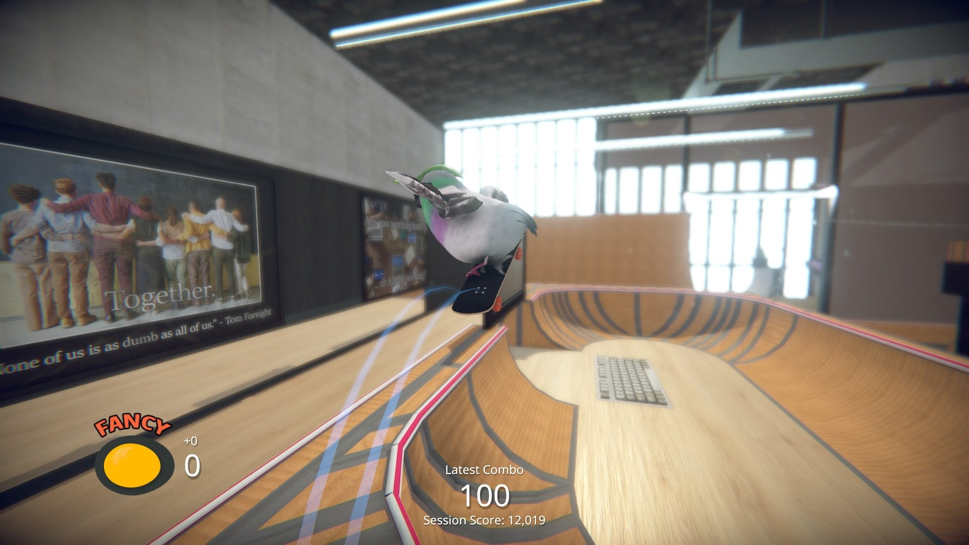 SkateBird's new office video puts the 'grind' in 'daily grind' screenshot