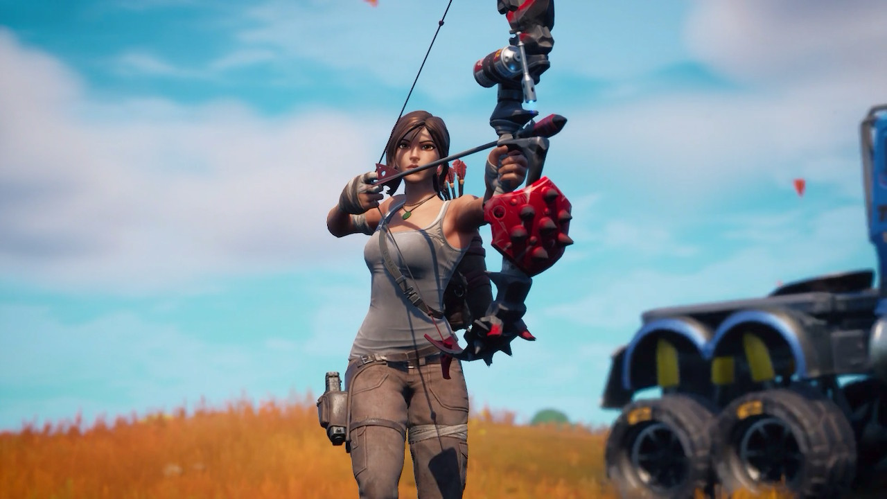 Fortnite's newest season is called 'Primal,' and has map changes as well as Lara Croft screenshot