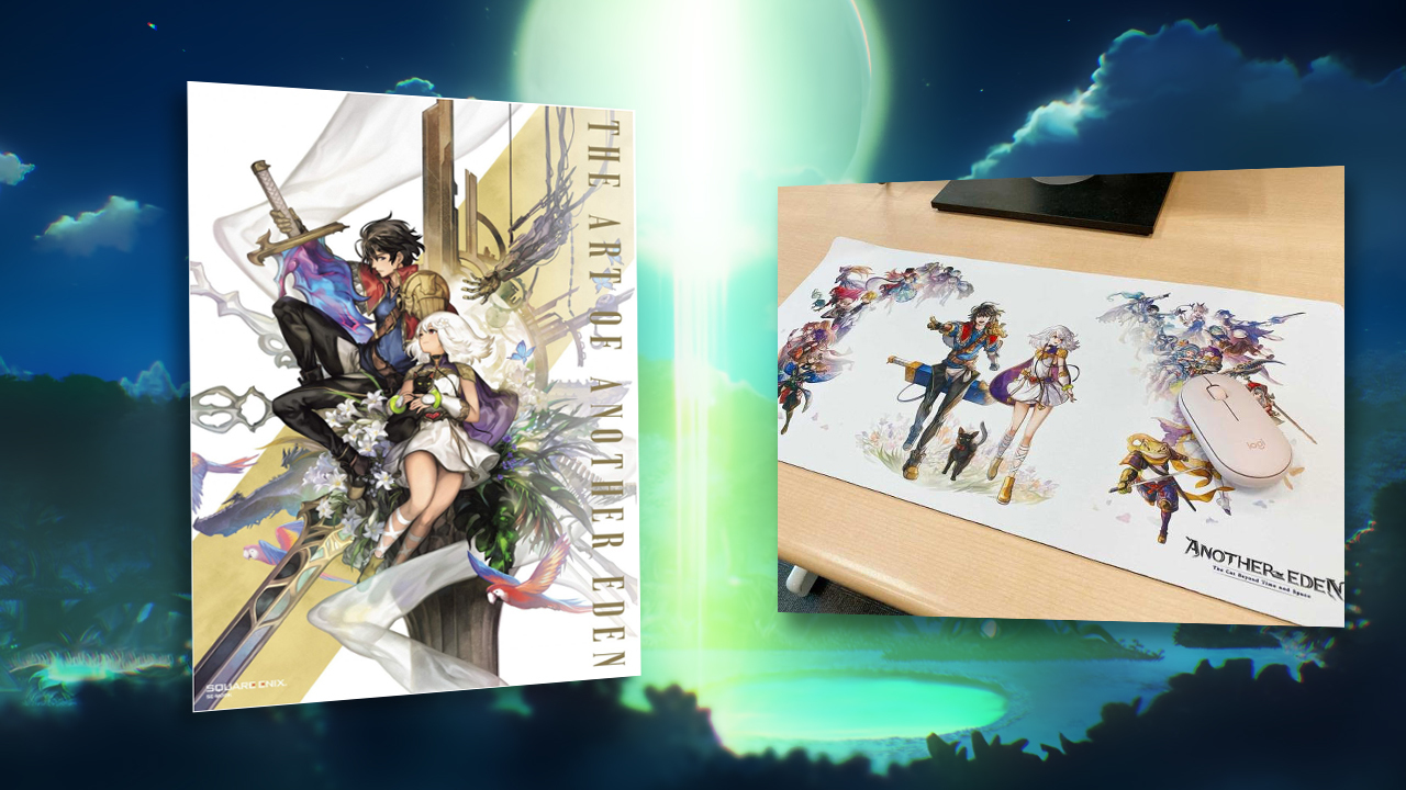 Contest: Win an Another Eden prize pack, featuring an official artbook and keyboard and mouse mat screenshot