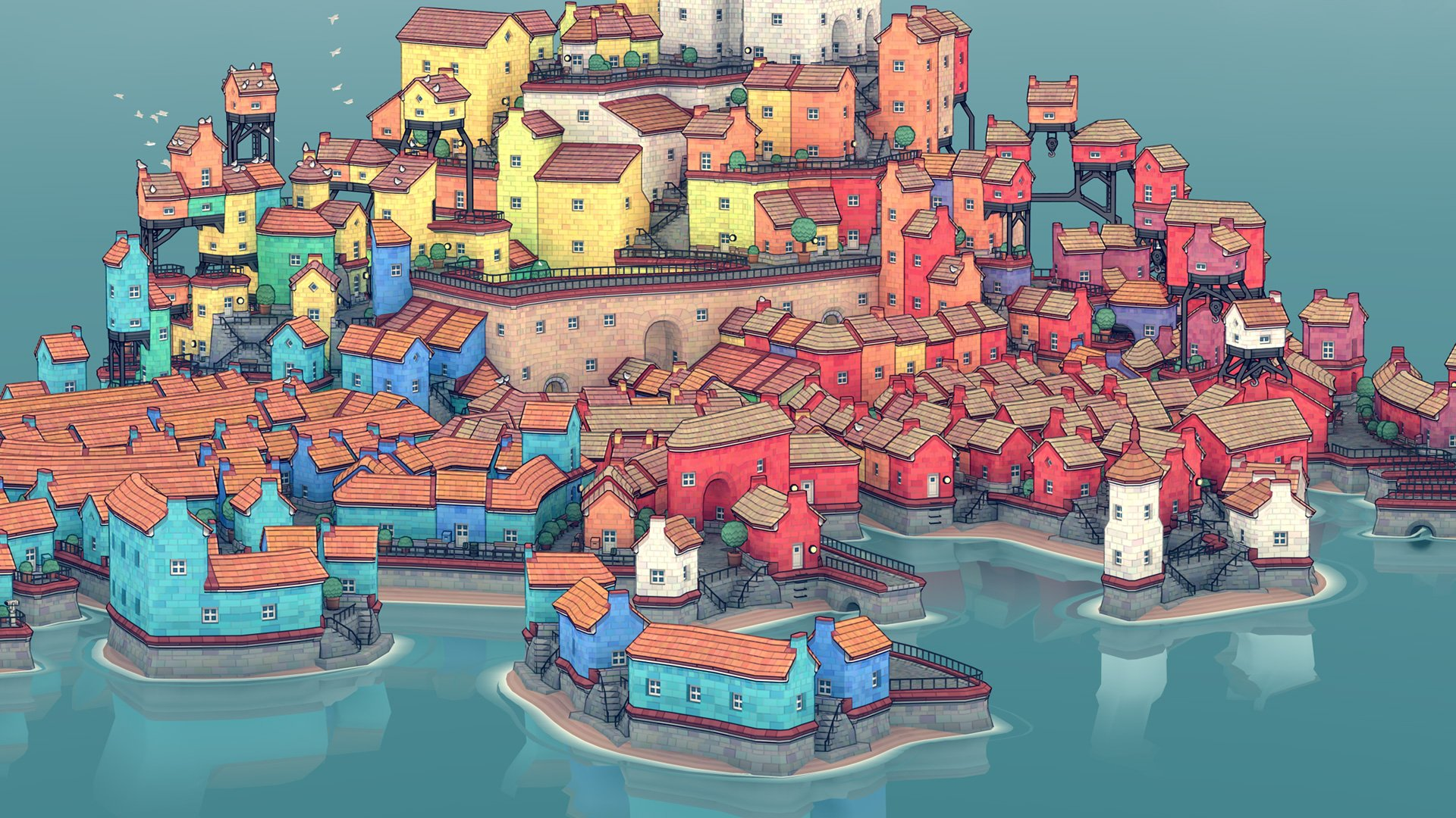 Townscaper, a care-free building game, is coming to Nintendo Switch, iOS, and Android screenshot